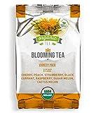 Blooming Tea - 7 Organic All Natural Flavors of Flowering Tea - Variety Pack - 7 Blooms (1 of each flavor)