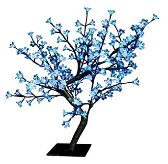 The Benross Christmas Workshop 60 cm 128 LED Blossom Tree, Blue/ White