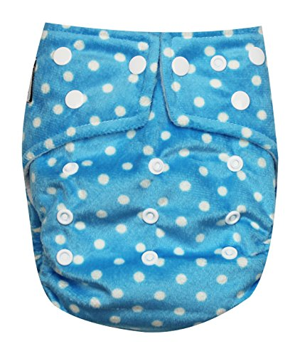 See Diapers One Size Minky Baby Cloth Diaper 2 Microfiber Inserts Dots - 1