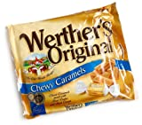 Werther's Original Chewy Caramels, 10-Ounce Bags (Pack of 12)