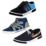 #10: Earton Men Canvas Combo Pack of 3 Casual Shoes (Sneakers)