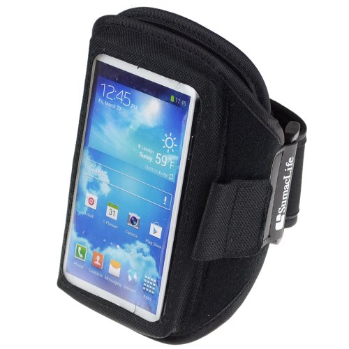Sumaclife Sport Armband Gym Band Case Pouch Exercise Case For Samsung Galaxy S4 S Ⅳ S3 S Ⅲ - Black (Samsung Galaxy S4)