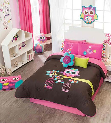 Pink And Brown Twin Comforter