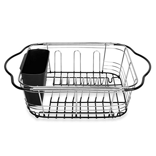 Expandable Over the Sink Dish Drainer 3-In-1 Rack