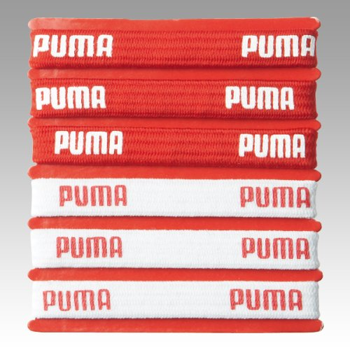 PUMA Haarbnder Nat Team Hairbands 6 Pcs, puma red-white, UA, 050973 01