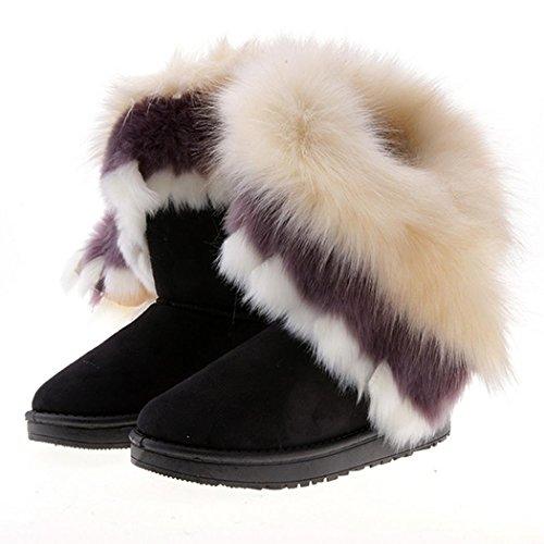 hikenn-damen-stiefeletten-winter-schnee-stiefel-warmen-kunstfell-schuhe-flat-boots