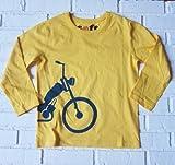 感覚・触覚過敏症、アトピー用 子供服:長袖Tシャツ:自転車