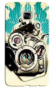Omnam Collage Made Up Of Camera Printed Designer Back Cover Case For Samsung Galaxy C7
