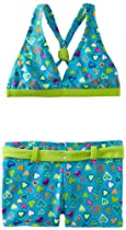 Laguna Girls 7-16 Sweet Hearts Bikini Swimsuit, Turquoise, 7