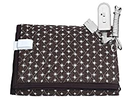 Winter Care Electric Under Blanket for Single Bed (Starry Brown 36 X 72 Inches)