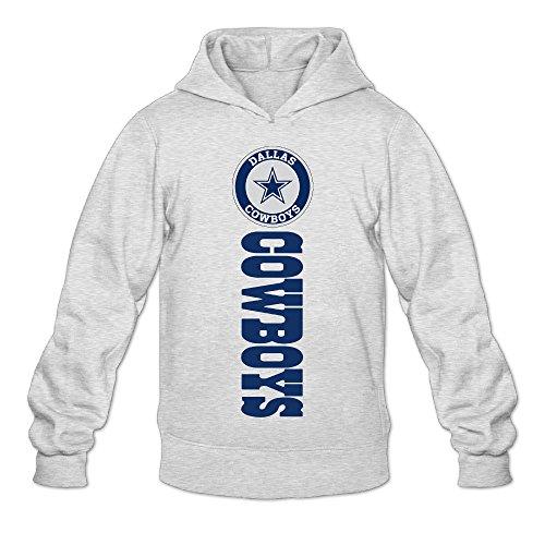 DVPHQ Men's Design Dallas Logo Cowboys Hoodie Size L Ash (Rutgers Football Jersey compare prices)