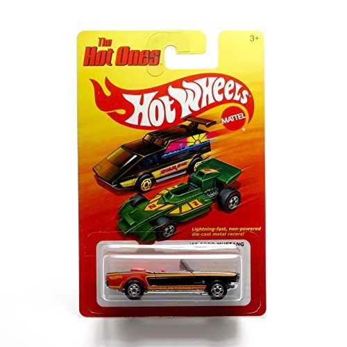 '65 FORD MUSTANG (BLACK) * The Hot Ones * 2011 Release of the 80's Classic Series - 1:64 Scale Throw Back HOT WHEELS Die-Cast Vehicle