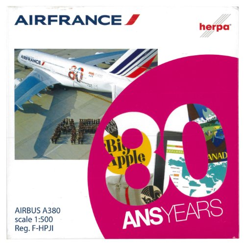 Daron Herpa Air France A380 80th Anniversary Reg#F Model Kit (1/500 Scale) (Air France Model compare prices)