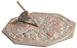 Whitehall Products Butterfly Sundial, Copper Verdi by Whitehall Products