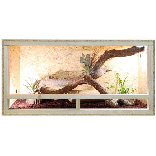 Repiterra Terrarium 120x60x60 Seite mit Versiegelung Holzterrarium Holz Terrarium