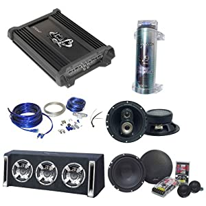Amazon.com : Lanzar Car Amplifier, Bass Box and Speaker Package