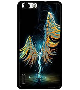 ColourCraft Angel Design Back Case Cover for HUAWEI HONOR 6