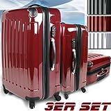 Vojagor® - Set 3 valises rigide en polycarbonate diverses couleurs