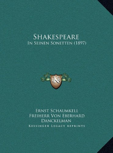 Shakespeare: In Seinen Sonetten (1897)