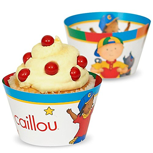 Caillou Reversible Cupcake Wrappers (12)