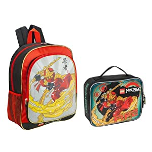 Ninjago Backpack and Lunch Box http://www.ebay.com/itm/Lego-Ninjago-Kai-Backpack-Red-Ninja-with-Lunch-Tote-Back-to-School-NEW-/180939260825