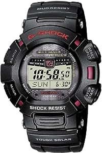 Casio G-Shock Herren-Armbanduhr Funk-Solar-Kollektion Digital Quarz GW-9010-1ER