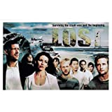 Click for larger image of Lost (Group on Beach W Wreckage) TV Poster Print Masterprint MasterPoster Print, 17x11