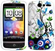 impexo HTC Desire G7 Case Cover Skin Pouch Shell Floral Pattern Unbreakable TPU Gel C