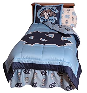 UNC Reversible Comforter Set - - North Carolina Tar Heels - UNC by College Covers