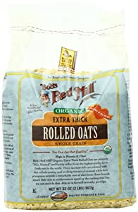 Bob's Red Mill Organic Oats Rolled Thick, 32-Ounce (Pack of 4)