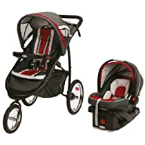 Graco FastAction Fold Jogger Click Connect Travel System/Click Connect 35, Chili Red