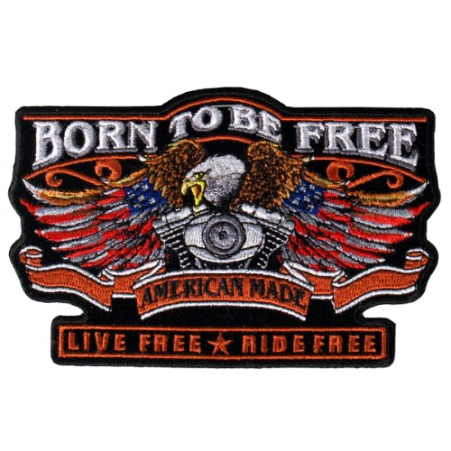Hot Leathers Born Free Eagle Biker Patch (5