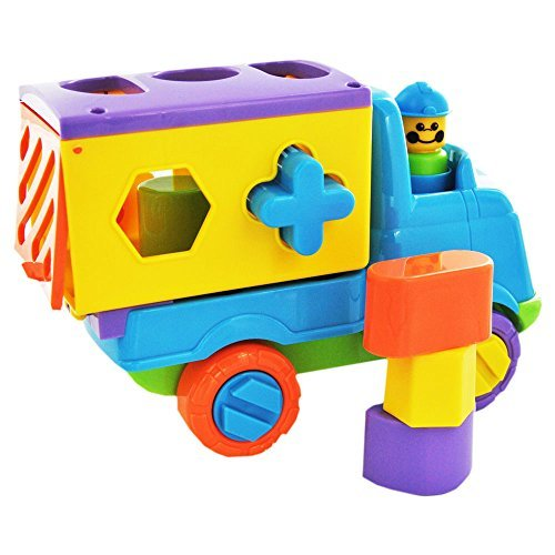 Fun Time Push Along Shape Sorting Tipper Truck - Assorted Colors - 1