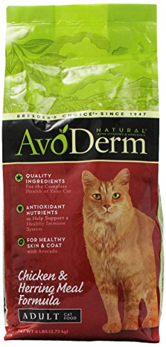 Avoderm Natural Chicken And Herring Meal Corn Free Formula Cat Food, 6-Pound