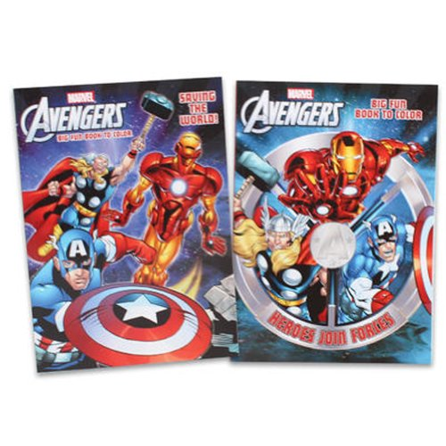 The Avengers Coloring, Activity Book Set(2 Pack)