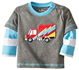 Hatley - Baby Boys Newborn Boys 2 In 1 Tees Big Rig Trucks, Gray, 3-6 Months