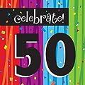 Creative Converting Milestone Celebrations Luncheon Napkins, 16-Count, Celebrate 50