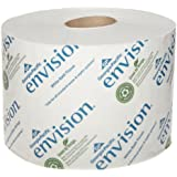 """Georgia-Pacific Envision 19448/01 White 2-Ply High Capacity Standard Bathroom Tissue, 4.05"""" Length x 3.95"""" Width (Case of 48 Rolls)"""