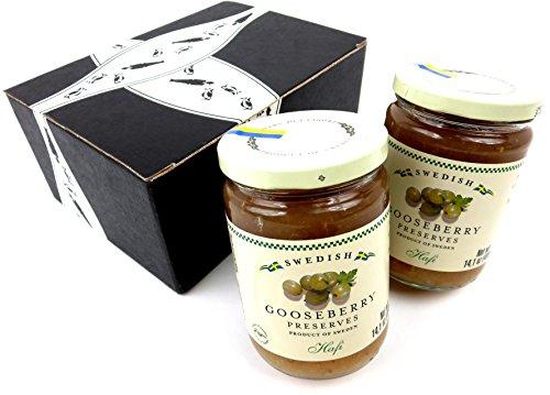 Hafi Gooseberry Preserves, 14.1 oz Jars in a