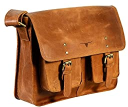 UF Cognac Leather Macbook Bag Women Leather Purse Messenger Bag Crossbody Shouder Handbag School Bag College Satchel