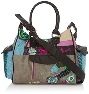 Desigual Bols London Medium S Patch, Sac porté épaule - Multicolore (2010), Taille Unique