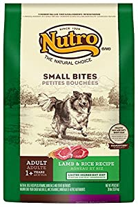 The Nutro Company Adult Small Bites Limited Ingredient Diet Dog Food with Lamb and Whole Brown Rice Formula, 30-Pound