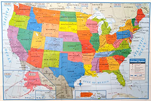 Superior mapping company united states poster size wall map 40 x 28 superior mapping company united states poster size wall map 40 x 28 with cities 1 map gumiabroncs Image collections