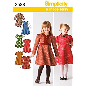 Simplicity Sewing Pattern 3588 Child Dresses, A (3-4-5-6-7-8)