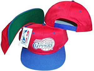 Los Angeles Clippers Red Blue Two Tone Snapback Adjustable Plastic Snap Back Hat Cap by Universal