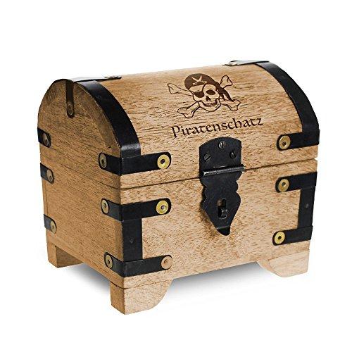 geld schatztruhe mit gravur piratenschatz standard farbe hell bauernkasse. Black Bedroom Furniture Sets. Home Design Ideas
