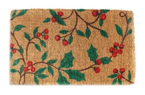 Imports Decor Printed Coir Doormat, Holly Princess, 18-Inch by 30-Inch