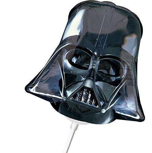 1 Folienballon Mini - Luftgefüllt am Stab - Star Wars - Darth Vader Maske ++ BEREITS mit Luft gefüllt ++ High Quality - Premiumline Luftballons ++ VERSANDKOSTENFREI vom Luftballonprofi & Heliumballon - Experten aus Deutschland galleryy ++