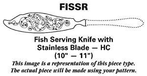 Royal Albert Flatware Old Country Roses (Stnls,Go Acnt) Fish Serving Knife with Stainless Blade HC
