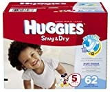 Huggies Snug and Dry Diapers Big Pack, Size5, 62 Count